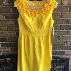 NWT London Times Size 8 Dress Yellow